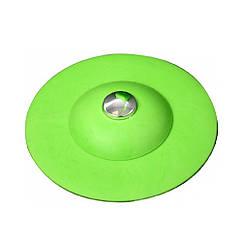 Пробка(Затычка)Заглушка D=100 мм Силиконовая Для Ванны(Мойки)Раковины Зеленая FALA 74784