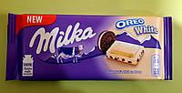 Шоколад Milka с печеньем Oreo белый 100 г, фото 1