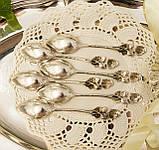 Шесть серебряных чайных ложек, Хильдесхаймская Роза, серебро, 800 проба, Германия, фото 5