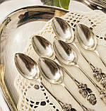Шесть серебряных чайных ложек, Хильдесхаймская Роза, серебро, 800 проба, Германия, фото 2