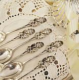 Шесть серебряных чайных ложек, Хильдесхаймская Роза, серебро, 800 проба, Германия, фото 3