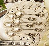 Шесть серебряных чайных ложек, Хильдесхаймская Роза, серебро, 800 проба, Германия, фото 7