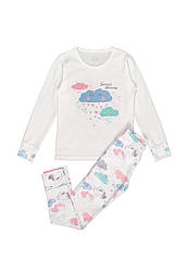 Пижама для девочки с печатью всесезонная