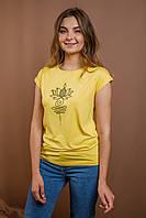 Жіноча футболка Лотос жовта, фото 1