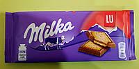 Шоколад Milka с печеньем LU молочный 87 г, фото 1