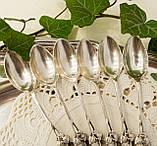 Шесть серебряных чайных ложек, Хильдесхаймская Роза, серебро, 800 проба, Германия, фото 10