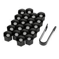 Колпачки на колесные болты 19 мм комплект 20 шт чёрные, Защитные накладки крышки болтов для литых дисков