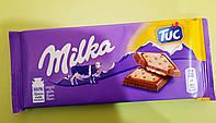 Шоколад Milka з крекером Tuc молочний 87 г