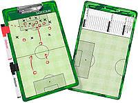 Доска тренерская футбольная тактическая GoSport Soccer Coaching Board 24х40 см (GS02)