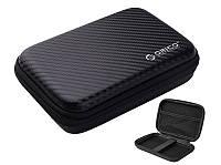 ORICO сумка чехол для 2.5 дюйма внешнего USB жесткого диска или телефона черный карбон 160х110х40 мм PHB-25