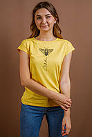Жіноча футболка Бджілка жовта, фото 1