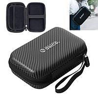 ORICO сумка чехол для 2.5 дюйма внешнего USB жесткого диска органайзер черный карбон 165х100х50мм PH-B20