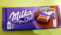 Шоколад Milka с печеньем Oreo Brownie молочный 100 г, фото 1