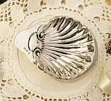 Серебряная икорница, ракушка, серебро 925 пробы, столовое серебро, James Deakin, 1909 год, Англия, Sheffield, фото 2