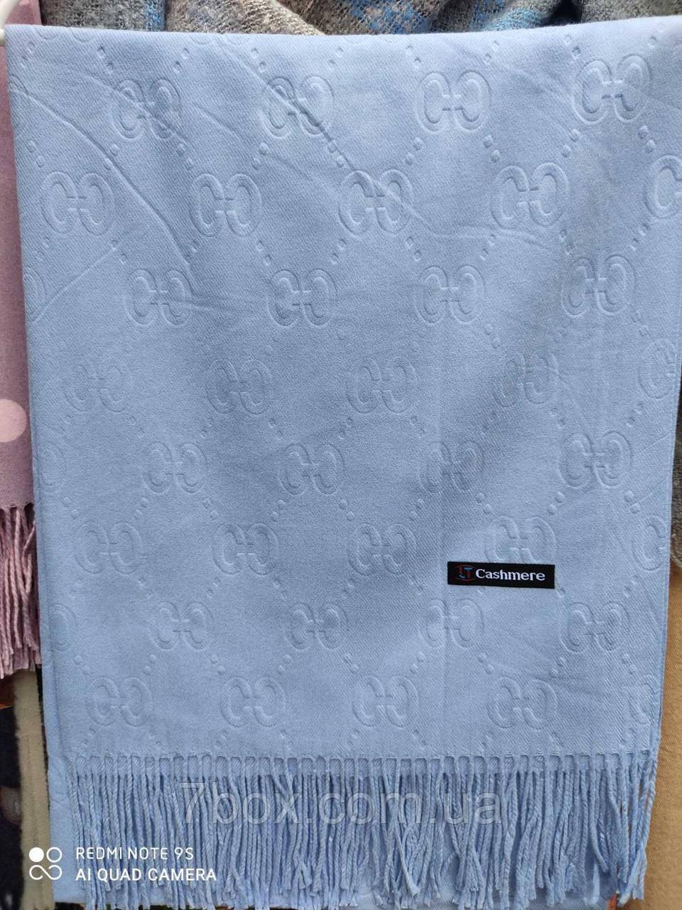 Модный женский шарф палантин однотонный Оптом рр. 70*185