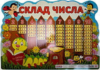 "Плакат ""Склад числа.Гусінь"" №13104191У/Ранок/"