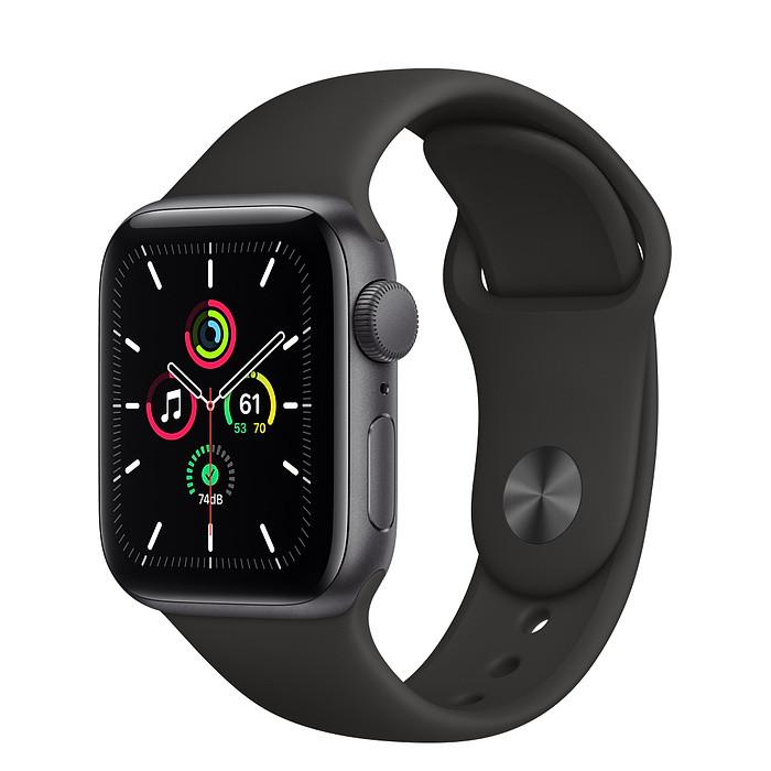 Apple Watch SE GPS 44mm Space Gray Aluminum Case w. Black Sport B. (MYDT2)