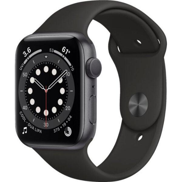 Apple Watch Series 6 GPS 44mm Space Gray Aluminum Case w. Black Sport B. (M00H3)