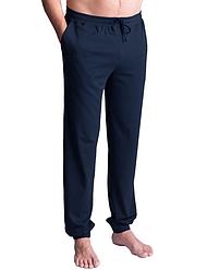 Мужские пижамные штаны домашние брюки трикотажные, синие Украина