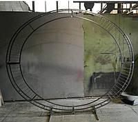 Арка коло Овальна 2,5 3,5 м з сіткою