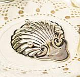 Серебряная икорница, ракушка, серебро 925 пробы, столовое серебро, James Deakin, 1909 год, Англия, Sheffield, фото 4