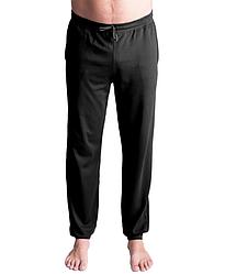 Пижамные штаны мужские домашние брюки трикотажные, черные Украина