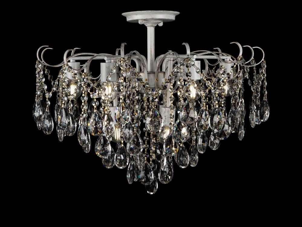 Светильники люстры потолочные в классическом стиле с хрусталем Splendid-Ray 30-3943-48