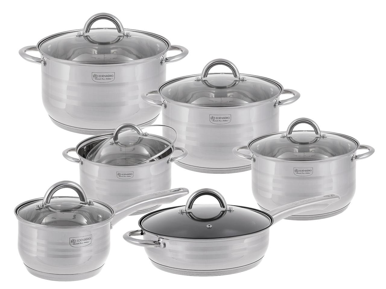 Набор посуды Edenberg из 12 предметов Серебристый (EB-4006)