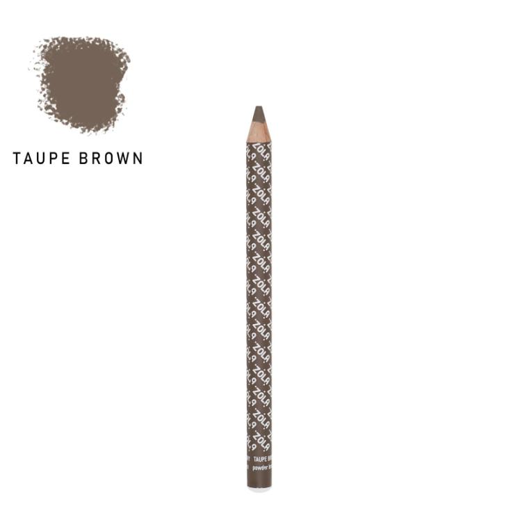 Zola Карандаш для бровей пудровый - Taupe Brown