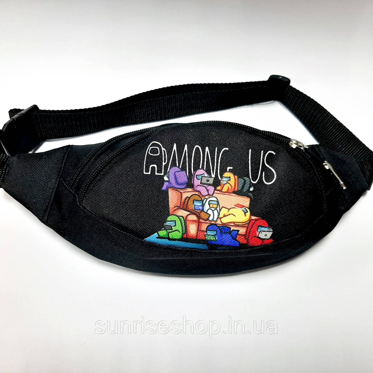 Поясная детская сумка бананка AMONG US опт