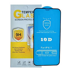 """10D Защитное стекло для iPhone 12 Pro (6.1"""") черное"""