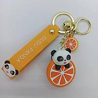Брелок на рюкзак, ключи Панда Апельсин