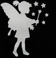 Светоотражайка на одежду Наклейка светоотражающая Ангелочек Н-17