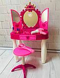 Трюмо 661-20 для девочки с стульчиком волшебной палочкой музыкальное, фото 2