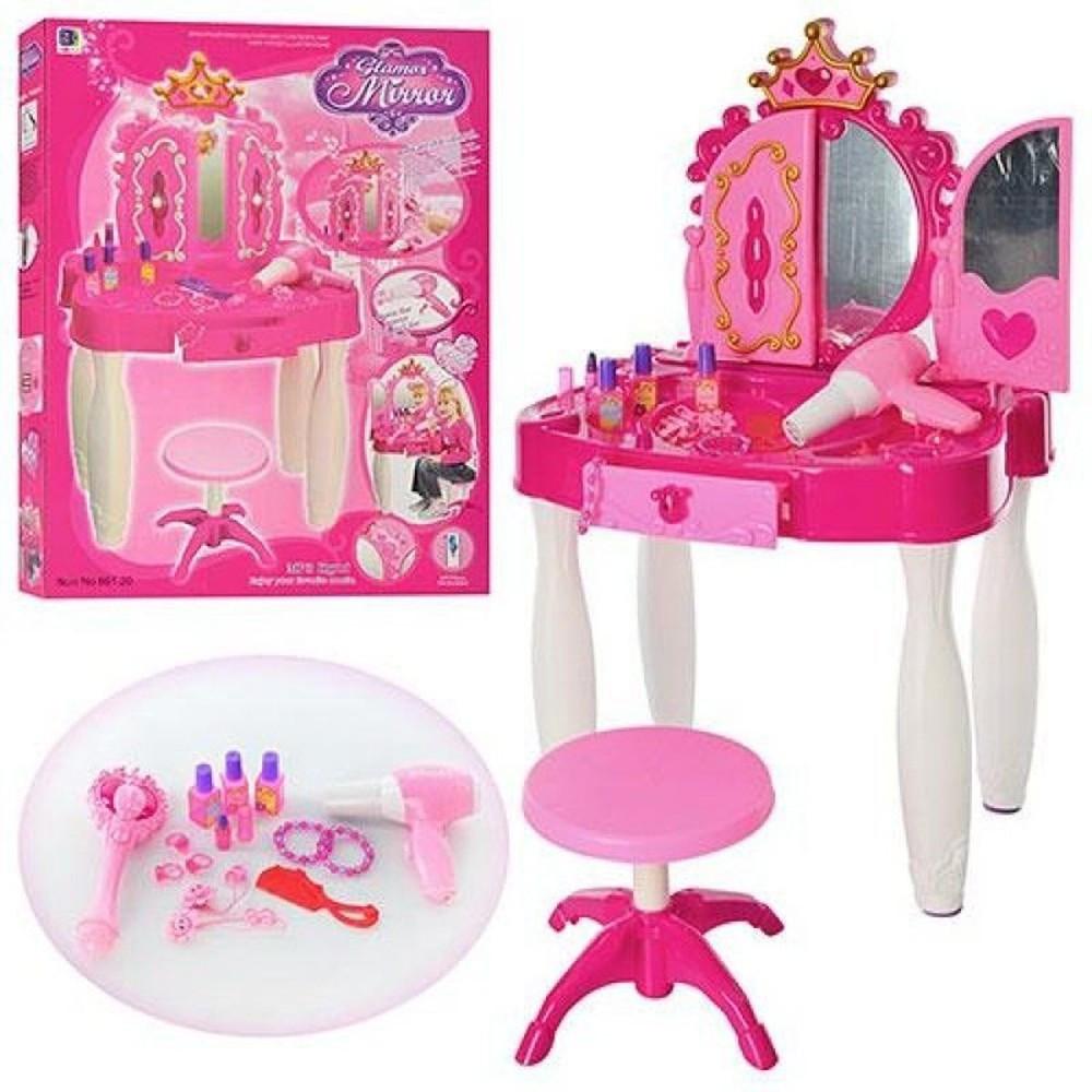 Трюмо 661-20 для девочки с стульчиком волшебной палочкой музыкальное