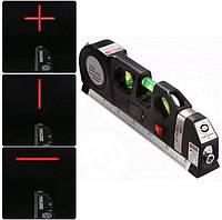 Лазерный уровень с рулеткой Laser Levelpro 3 двухплоскостной (Настоящие фото)