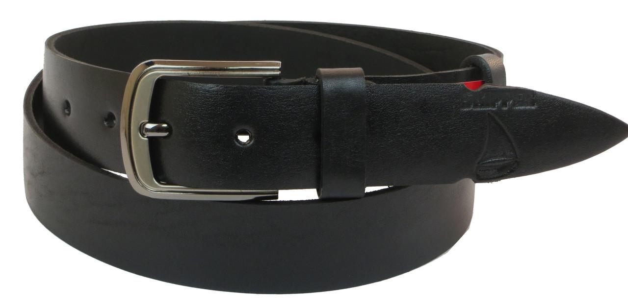 Кожаный ремень Skipper 110-130 x 3.8 см Черный (1022-38)