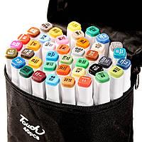 Набор двухсторонних маркеров для рисования и скетчинга на спиртовой основе Touch 40 цветов. Скетч-маркеры.