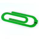 Вішалка настінна Гачок Glozis Clip Green H-011 26 х 10 см, фото 2
