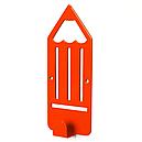 Вешалка настенная Детская Glozis Pencil Orange H-040 16 х 7 см, фото 2