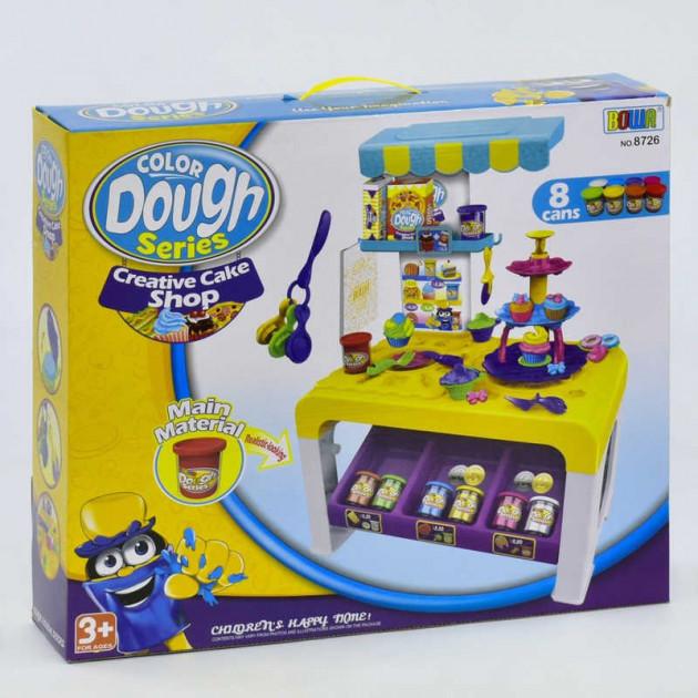 Детский набор для лепки Color Dough Creative Cake Shop Пирожное 8 баночек