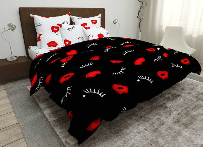 Двуспальный комплект постельного белья евро 200*220 хлопок  (15850) TM KRISPOL Украина, фото 2