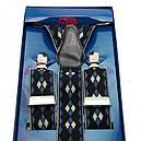 Подтяжки Gofin suspenders Y Образные Черно-синий (Pu-0460), фото 2