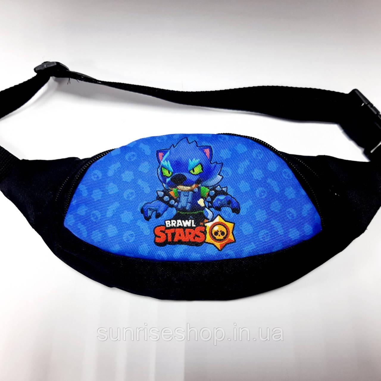 Поясная детская сумка бананка Brawl Stars опт