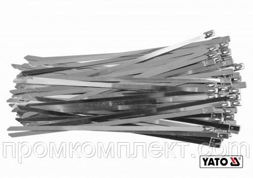 Хомут металлический универсальный 4,6х200 (упаковка 100 шт.) YATO