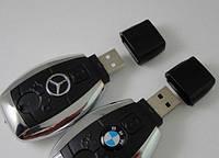 Зажигалка usb в виде ключа+фонарик BMW, Mercedes