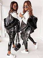 Куртка женская батальная из плащевой ткани непромокаемая, износостойкая, непродуваемая, на синтепоне черная