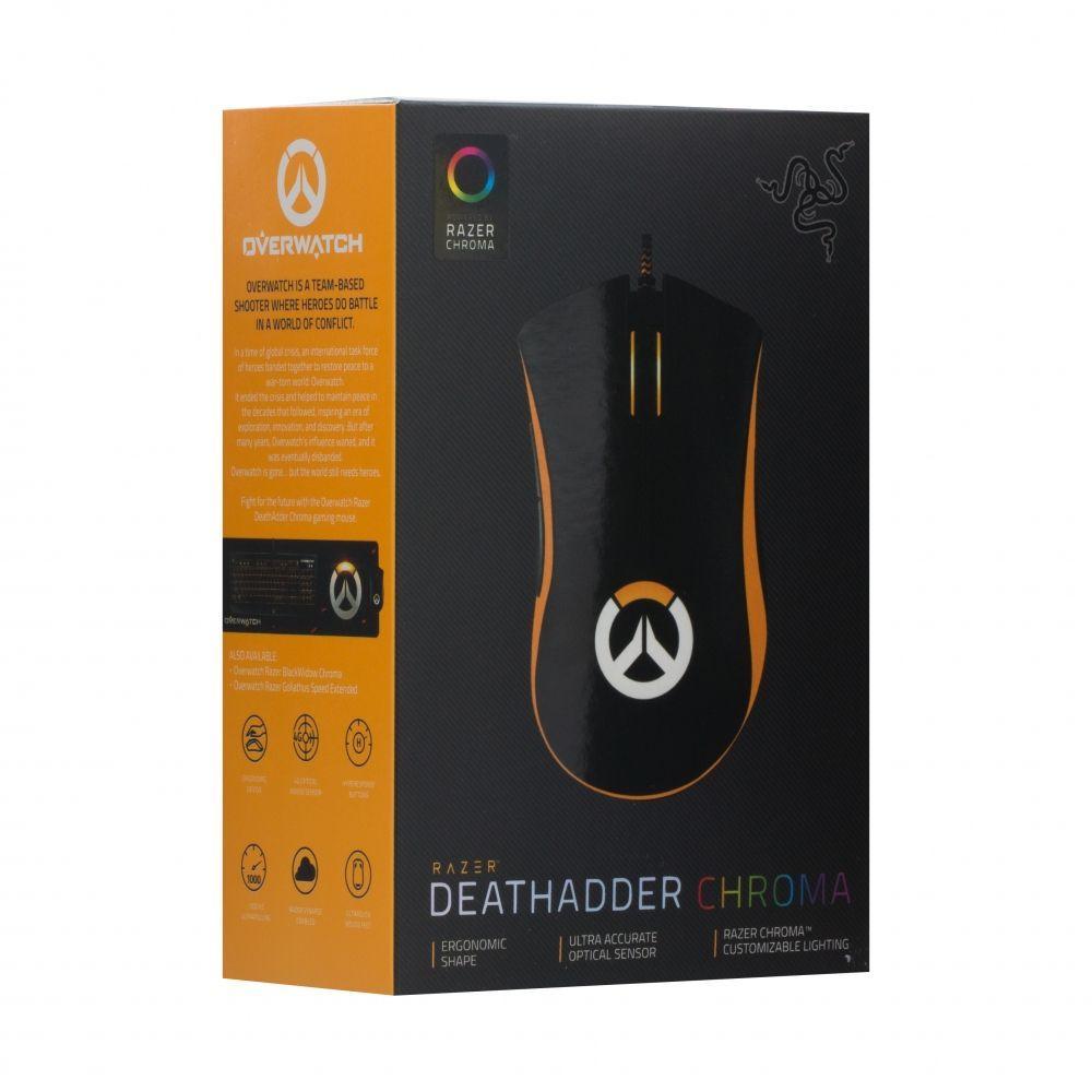 Компьютерная мышь USB проводная черная DeathAdder Chroma Overwatch Razer (ЦУ-00022460)