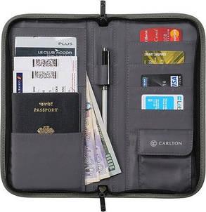 Дорожнє портмоне для грошей та документів Carlton Travel PASSWALLGRY;02 сірий, фото 2