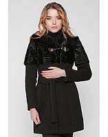 Стильное женское пальто на зиму с каракулем